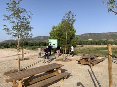 Finalitzen les obres de millora de l'àrea recreativa de La Granja d'Escarp i la senyalització de la ruta de l'Aiguabarreig Segre-Cinca